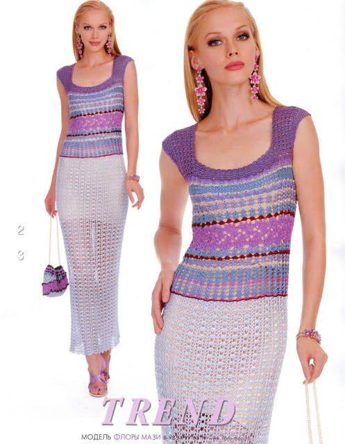 rochie crosetata lunga 3 culori
